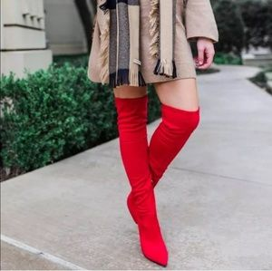 A New Day Norina sock boots over knees pointed toe